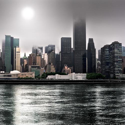 city urban newyork black building water glass fog architecture modern skyscraper buildings river dark design town downtown waves view contemporary steel pietro faccioli pietrofaccioli