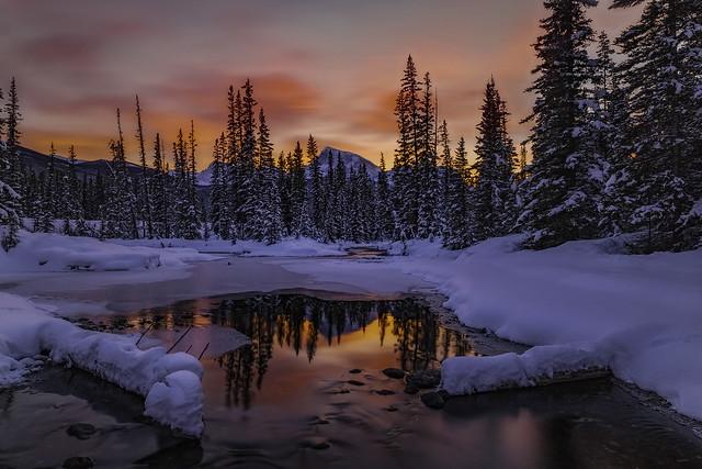fire in the winter sky