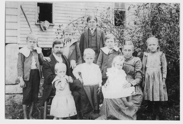 My great grandfather, great grandmother and some of the children...more were to come!
