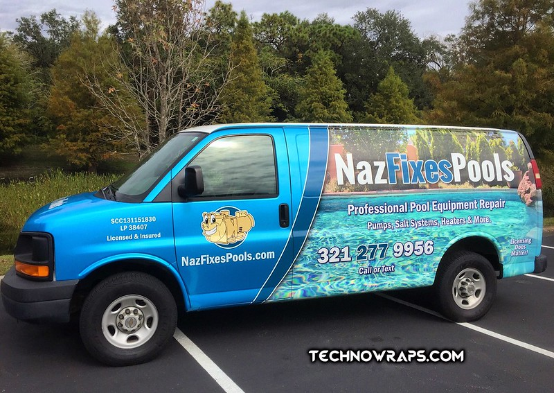 Van wrap with printed and color change vinyl graphics in Orlando