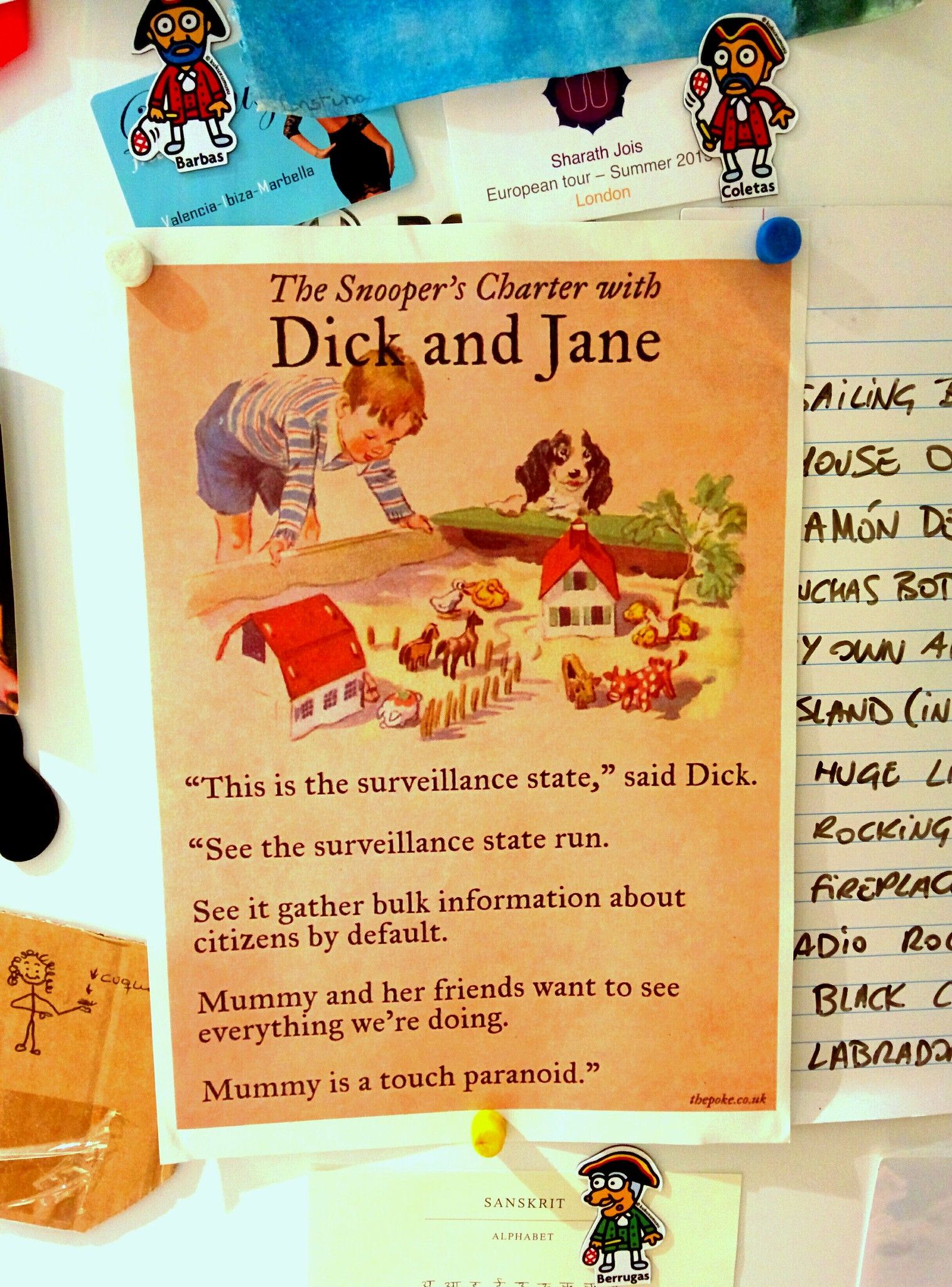 Dick and Jane go to visit the surveillance state.