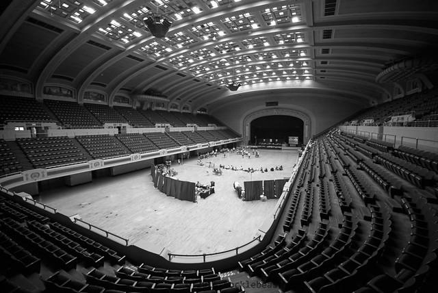 The Cleveland Public Auditorium as a venue for roller derby