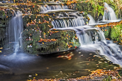 longexposure autumn usa mountain fall leaves waterfall stream pennsylvania le select