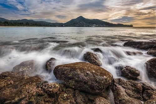 longexposure autumn sea beach water clouds thailand nikon rocks long exposure sigma phuket siam 1020 topaz hoya kamala adjust lr6 sigma1020f456 d7100 nd32 topazadjust