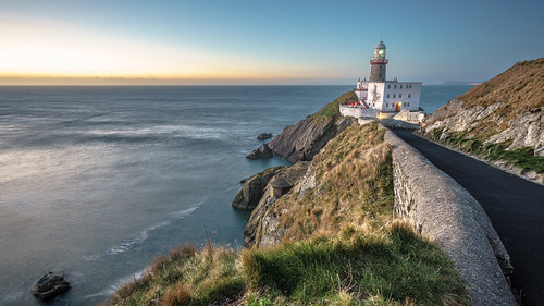 morning travel ireland sea sky howth dublin cliff lighthouse seascape motion nature lines clouds composition sunrise landscape geotagged photography early photo europe long exposure minolta sony wide full frame konica fullframe onsale ultra leading a7 baily 1735 sonya7