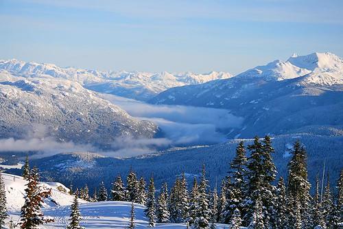 Views from Whistler Blackcomb Ski Resort, Whistler BC, British Columbia.