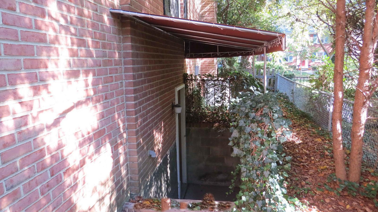 Stairwell- Basement Awning- Hoffman Awning Baltimore