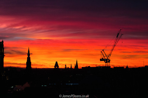 cranes digital downloads for licence nighttimeshot edinburgh gb industry prints sale weather red light lights unitedkingdom colour silhouette scotland britain timeofday crane man who has everything tower architecture sunset lothian europe uk james p deans photography digitaldownloadsforlicence jamespdeansphotography printsforsale forthemanwhohaseverything