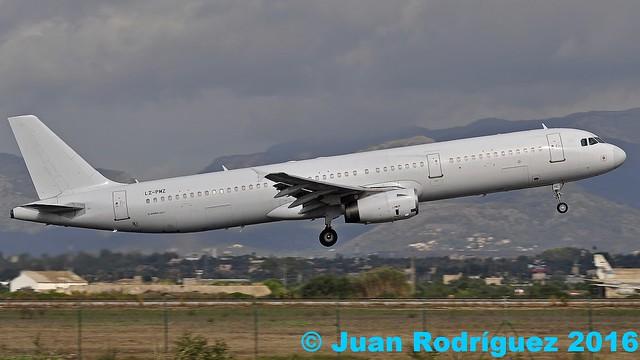 LZ-PMZ - Air Via - Airbus A321-231 - PMI/LEPA