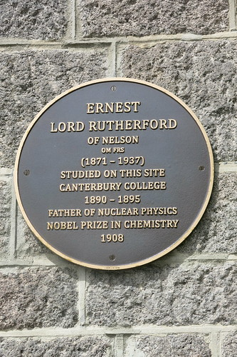 Ernest Rutherford plaque - Arts Centre