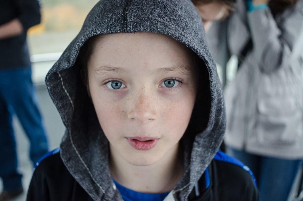 Boy in hoodie.