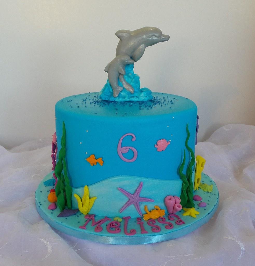 Incredible Dolphin Themed Birthday Cake Willi Probst Bakery Flickr Funny Birthday Cards Online Alyptdamsfinfo