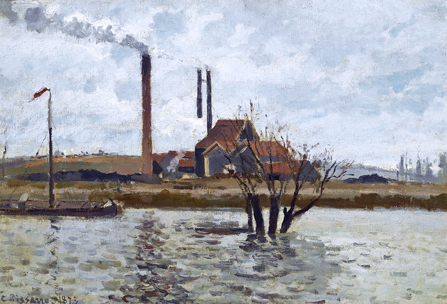 Camille Pissarro - Factory at Pontoise [1873]