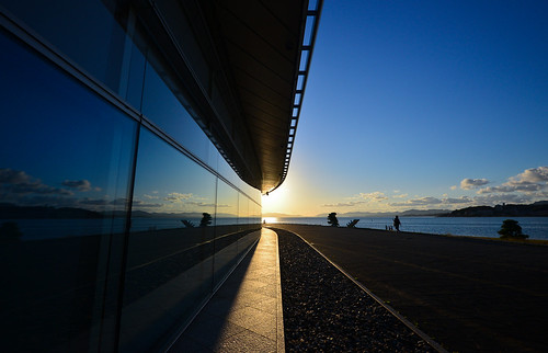 sunset lake nature dusk symmetry shimane nano 自然 夕日 空 matsue sanin lakeshinji d600 松江 島根 宍道湖 1635mm 島根県立美術館