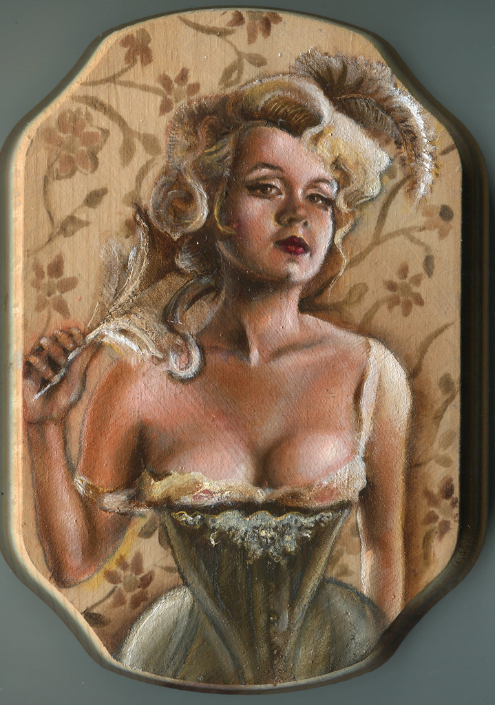 Saloon girl art