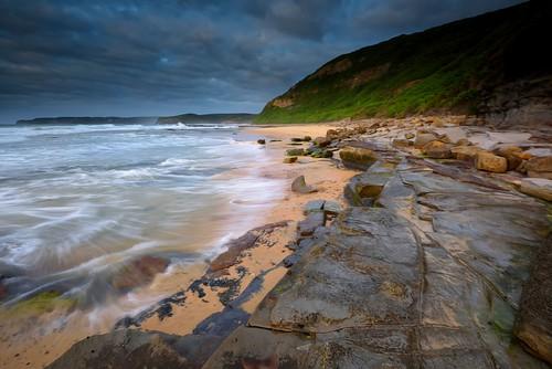 ocean seascape rocks waves australia shore nsw aus merewether watermovement nikon1635mmf4 nikond750