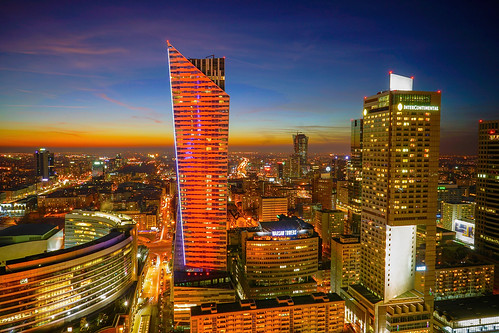 city longexposure sunset urban skyline architecture night buildings lights downtown skyscrapers dusk sony poland polska le warsaw bluehour alpha centrum warszawa pologne sonya7ii ilce7m2 tanzpanorama