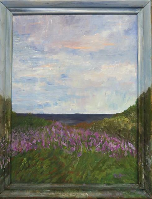 Star Island Irises - painting