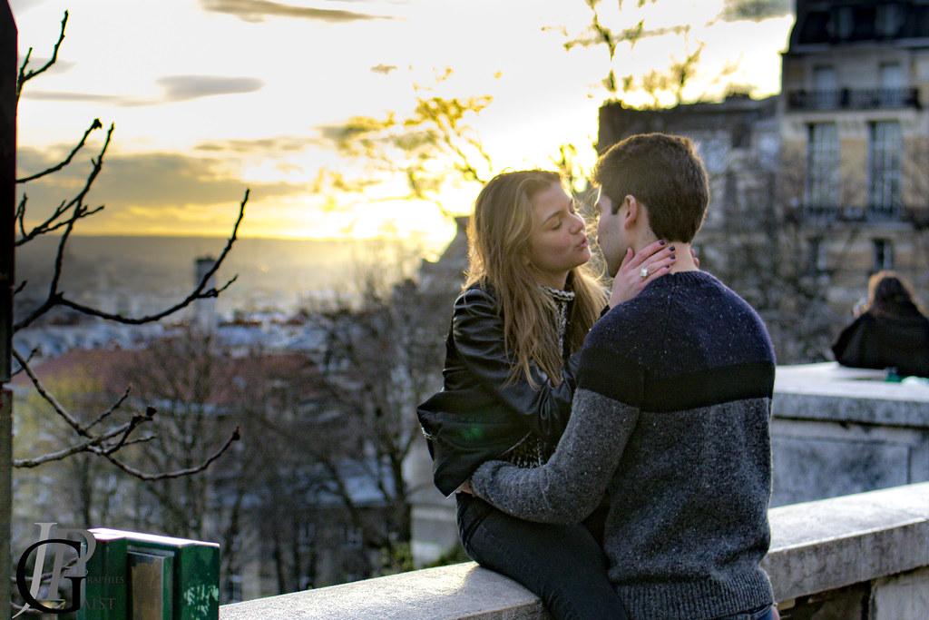 Lovers in Montmartre