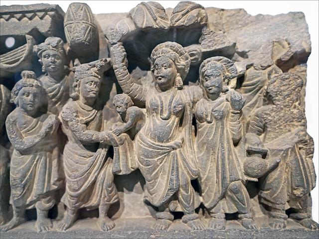 La naissance du Bouddha (musée Guimet, Paris)
