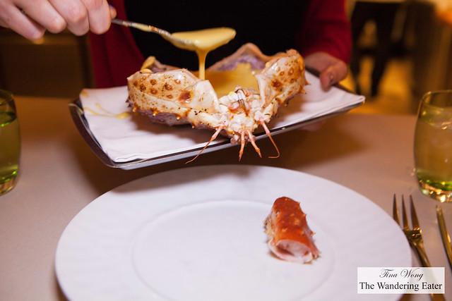 King crab, bottarga crab fat butter