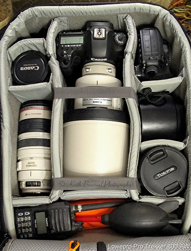 Lowepro Pro Trekker 400 AW packed © Keith Breazeal | by Keith Breazeal Photography
