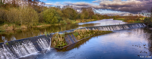 ireland panorama reflection water river landscape outdoor pano serene weir watercourse offaly panoramicimage panoramaimage