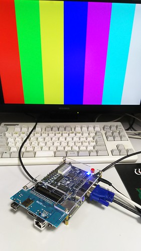 FPGA DE0でVGA