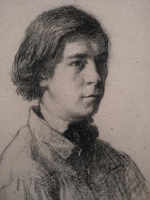 MILLET Jean-François,1849 - Portrait d'Alexandre Lefranc (drawings, dessin, disegno-Louvre RF38922) - Detail 1