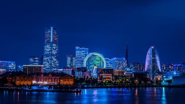 Yokohama in blue