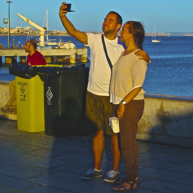 A couple selfie