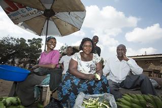 Vendors at a banana market, Kampala | by IFPRI