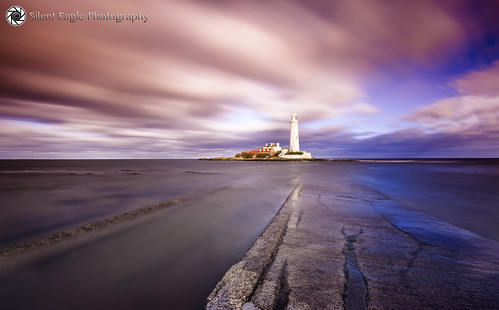 sep silent eagle photography silenteaglephotography canon northeast longexposure lee leefilters sea seascape lighthouse lighthousestmarysisland outdoor orange clouds reflection silenteagle09 north east copyright© 35seconds ep0044