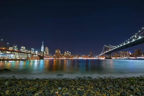 nyc longexposure travel bridge brooklyn night photography manhattan hudson nikond5300