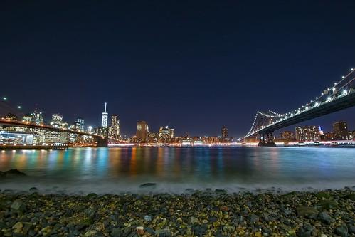 nyc longexposure travel bridge brooklyn night photography manhattan hudson nikond5300