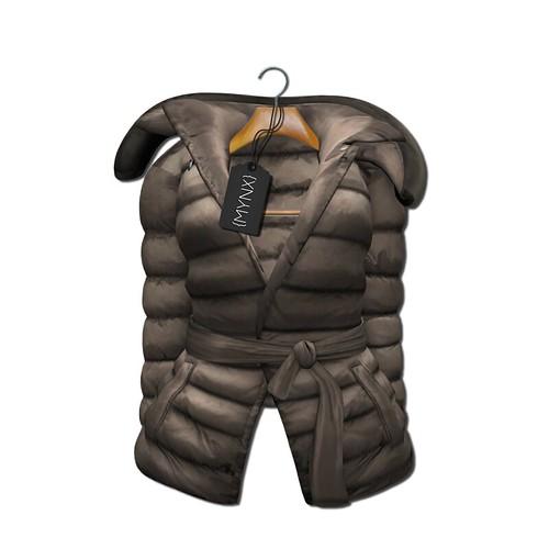 {MYNX} Puffy Tie Jacket - Biege Ad
