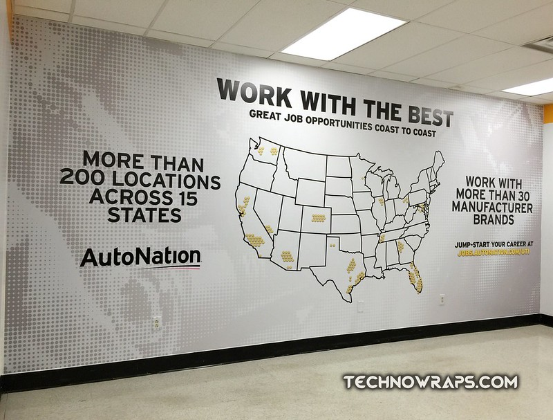 Wall wrap graphics in Orlando