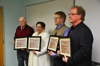 Wed, 12/09/2015 - 11:03 - Left to right are Holly Ricci-Canham, Susan Starkweather Miller, Andrew W. Meier and William A. Menz