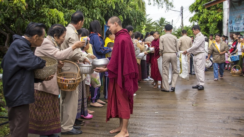 Monks and alms