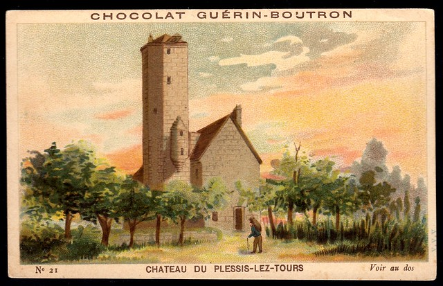 French Tradecard - Chateau du Plessis-Lez-Tours