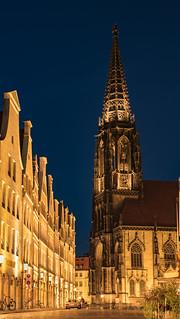 Prinzipalmarkt mit Lambertikirche, Blue Hour | by Rainer Albrecht