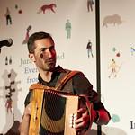 Jura Unbound - A Little Slice of Italy |  Italian folk troop The Badwills play Jura Unbound at the Book Festival © Helen Jones