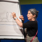 Debi Gliori | Our Illustrator in Residence Debi Gliori draws the lovable Alfie at the Book Festival © Alan McCredie