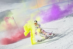 Marcel Hirscher performs during the project 'Marcel Hirscher Colours' at Reiteralm near Schladming, Austria on March 24th, 2015  // Philip Platzer/Red Bull Content Pool // P-20150402-00163 // Usage for editorial use only // Please go to www.redbullcontentpool.com for further information. //