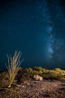 Milky Way Rising over Terlingua Ruins | by @run rao