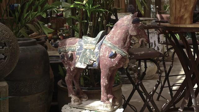 Horse Sculpture In Partial Sunlight