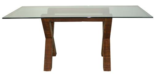 Rustic x leg table | by urbanwoods123