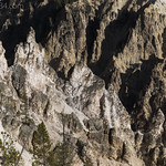Rock formations along the Grand Canyon of the Yellowstone