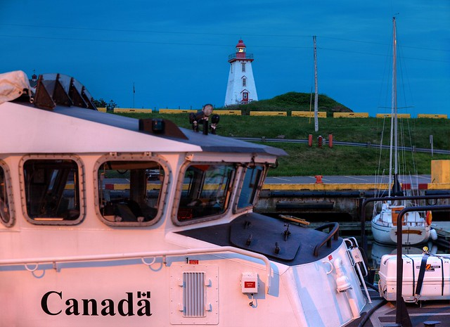 Souris Harbour and Lighthouse