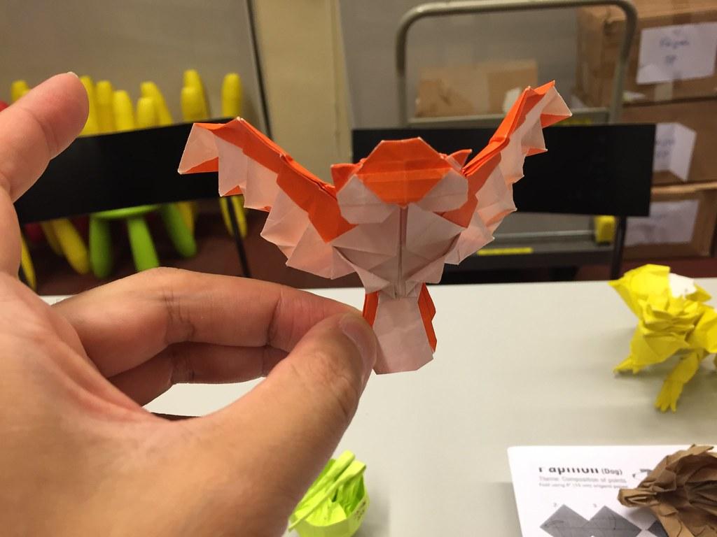 Singapore flag crane fish card Olympics Rio 2016 – Spark Joy Origami | 768x1024
